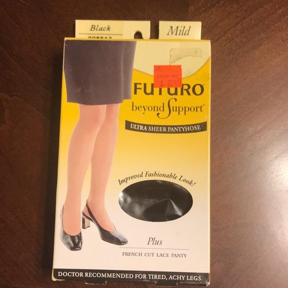 6b3909940fb Futuro Beyond Support Ultra Sheer Pantyhose Plus